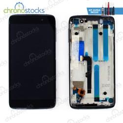 Ecran LCD + vitre tactile + châssis Alcatel Idol 4 OT6055