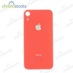 Vitre arrière iPhone XR corail (large hole)