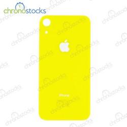 Vitre arrière iPhone XR jaune (large hole)