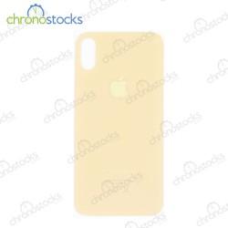 Vitre arrière pour iPhone XS doré (large hole)