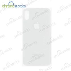 Vitre arrière pour iPhone XS blanc (large hole)